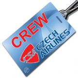 CSA CZECH AIRLINES Blue Crew Tag